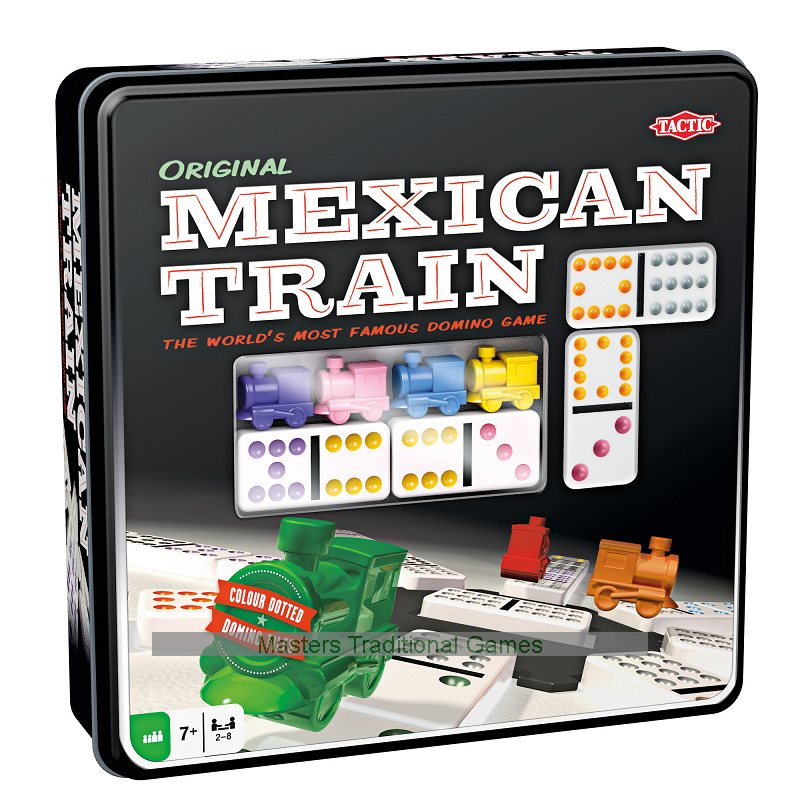 Tactic Mexican Train Dominoes In Tin 6416739540054 Ebay