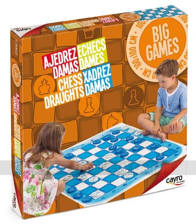 Large Chess & Draughts Floor Game - 1 metre mat