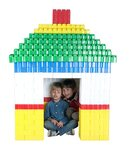 Game Movil Giant Blocks House and Fence - 384 Pieces