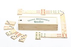 Chunky Giant Dominoes in wooden box
