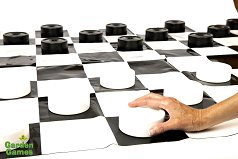 Mini-Giant Draughts set (10cm draughts)