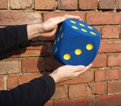 Giant Foam Dice - 16cm - BLUE