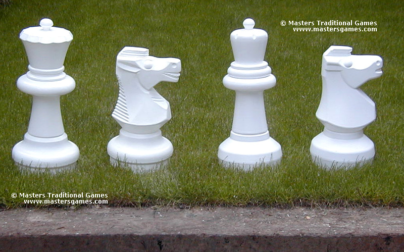 Giant Chess Pieces Comparison