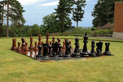 Uber Giant Teak Chess Set (without board)