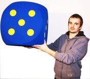 Giant Foam Dice - 50cm - BLUE