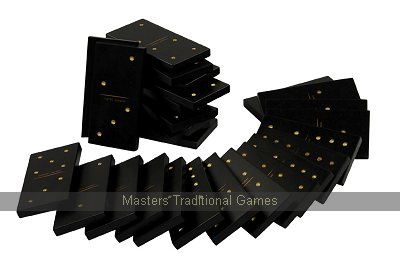 Jaques Giant Dominoes - Black with white spots