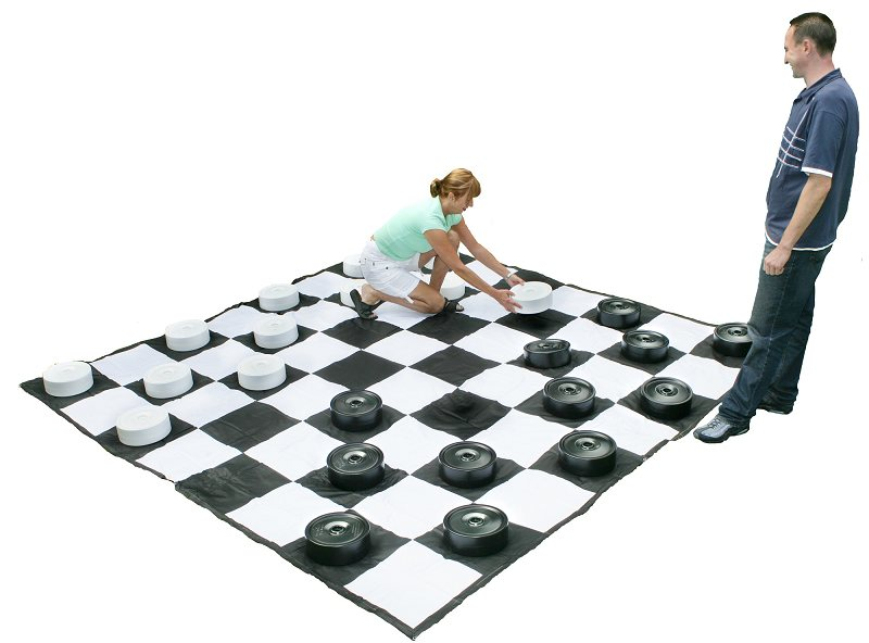 G.G. Giant Draughts Set (24 Pieces Without Board)