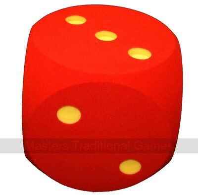 Giant Foam Die - 30cm - RED