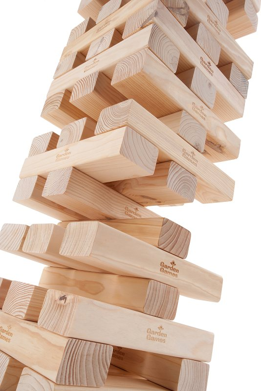 Giant Wooden Blocks Tower Stacking Game By Hey Play