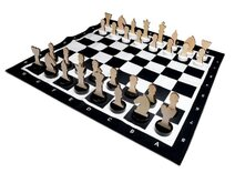 Chess XL with Wooden Pieces