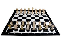 XL Giant Chess Set with Wooden Pieces