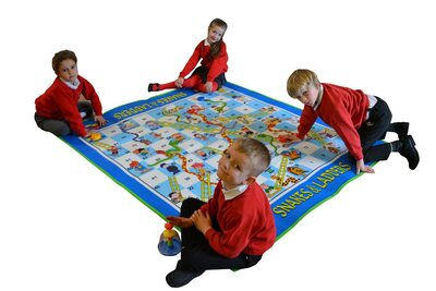 Large Snakes and Ladders Floor Game