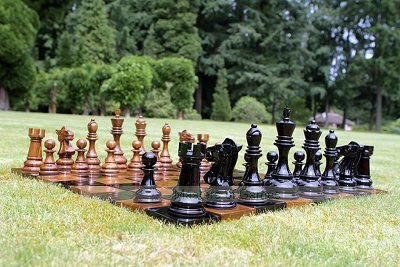 Large Chess Pieces - 20cm Teak (board not included)