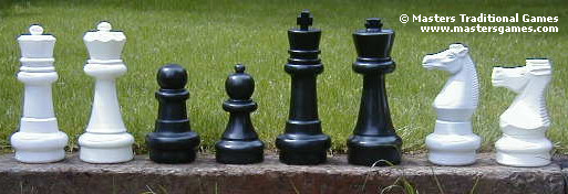 Comparison Of Giant Chess Pieces Premium And Garden Games