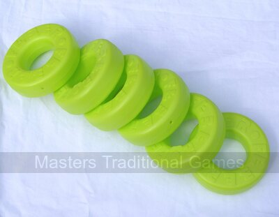 Pack of 6 spare disks for Mega 4 in a Line (6 light green)
