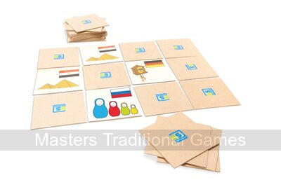 Giant wooden Memory Pairs Game (World Flags Pelmanism)
