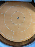Masters Crokinole Tournament Board - Beech & Walnut (with discs, powder & hanging kit)