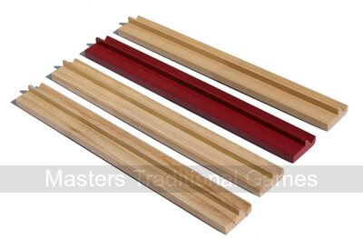 Set of 4 large Mah Jong tile Racks with ledges