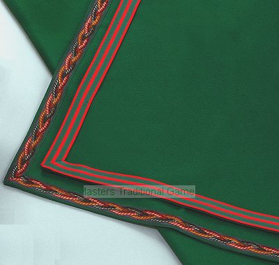 Green Baize Bridge Cloth with 3 strand rope border