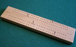 Chunky Hand-Made Oak Cribbage Board