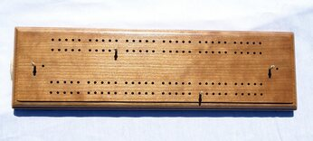 Large Hand-made Cherry Cribbage