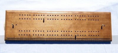 Large Hand Made Cherry Cribbage Board