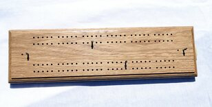 Large Hand-made Oak Cribbage