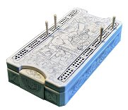 Replica Historical Sailor's Cribbage Box - with cards & pegs