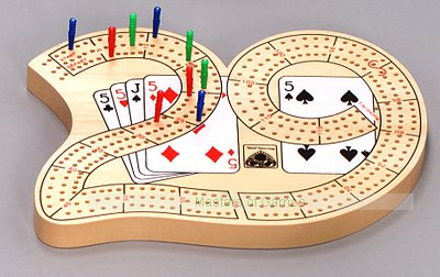 No. 29 Cribbage board (with 3 tracks)