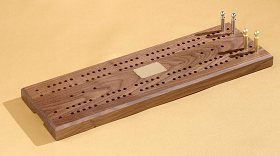 American Walnut Large Cribbage Board