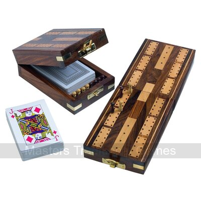 Wooden folding Cribbage set