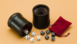 Double Leather Dice Cup Set