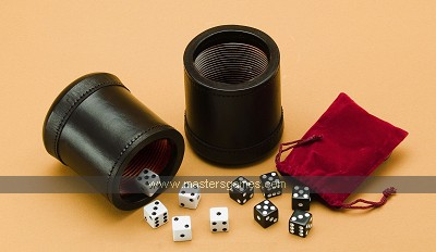 Leather Dice Cup set