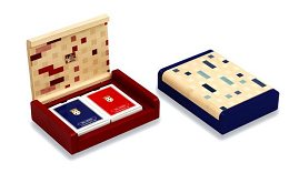 Dal Negro Blue Playing Card Box