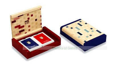 Dal Negro Blue Playing Card Box with Multicolour lid