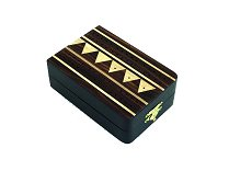 Italfama Folding Wooden Cribbage Set - Dark Wood