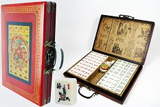 Mah Jong Set In Decorated Case - Smaller Size