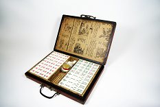 Mah Jong Set In Decorated Box - Smaller Size