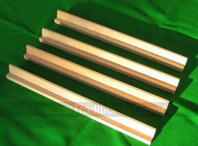 Set 4 Mah Jong tile Racks (natural wood)