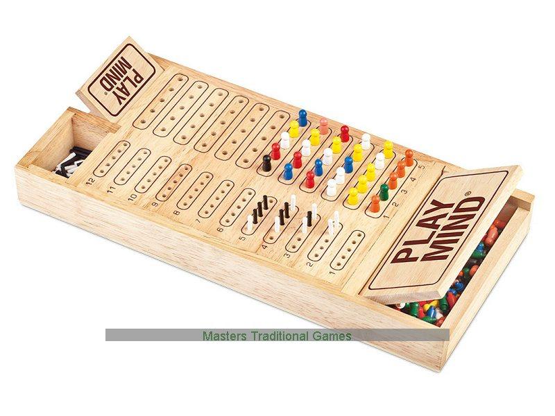 CodeBreaking Games Play Mind Brain Master Mastermind Custom Wooden Mastermind Game