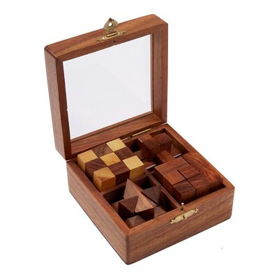 Wooden 3D 4-in-1 Puzzle Set