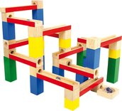 Wooden Building Blocks Marble Run (54 parts)