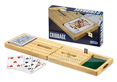 Wooden Folding Cribbage Set By Gibsons Games