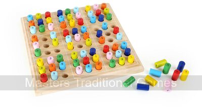 Colourful Wooden Sudoku