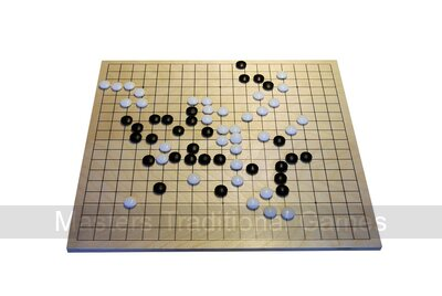Go Set - Folding Board with Glass Stones