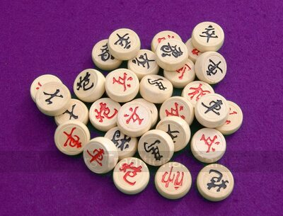 Wooden Xiangqi Pieces (33mm)