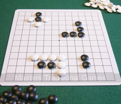 Go Masters - Entry-Level Go Set-dual sided board, plastic stones