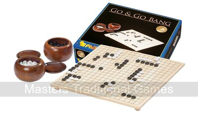 Tournament Go Set- board with feet,wooden bowls&plastic stones