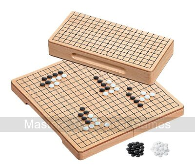 Philos Folding Go Set - beech wood board with plastic stones