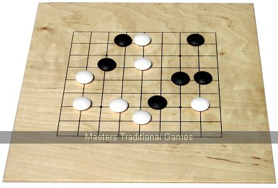 Mini Go set (9x9 and 13x13 boards with plastic stones in box)